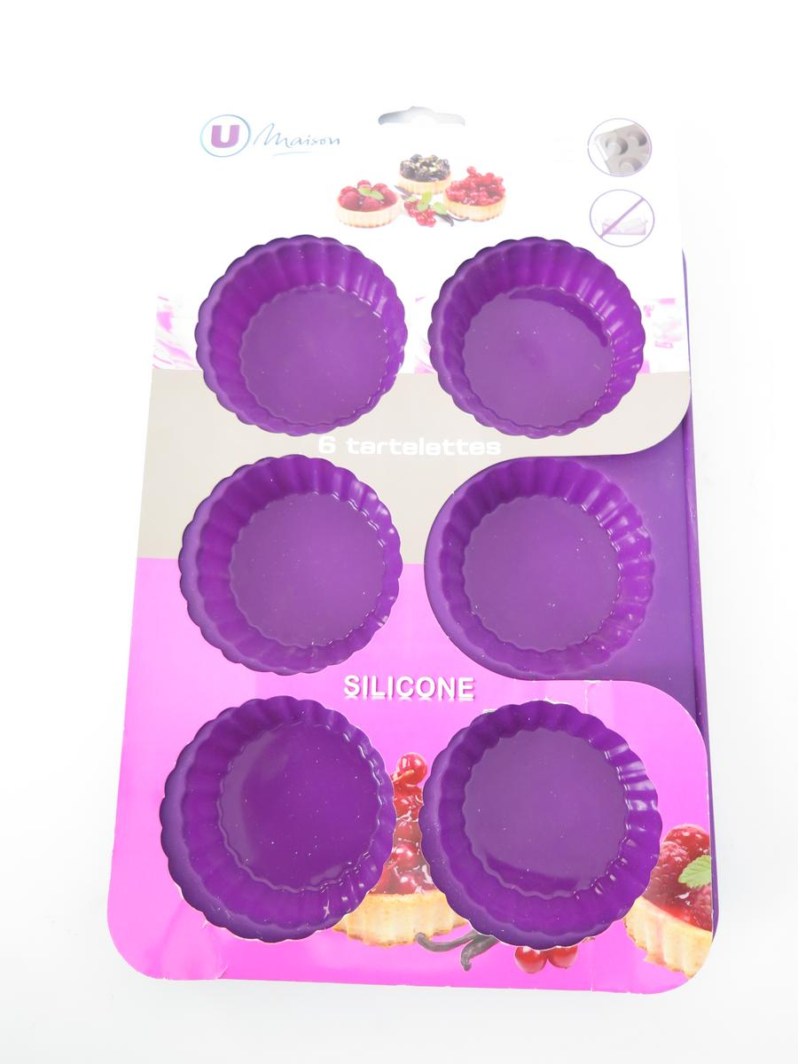 MOULE SILICONE 6 TARTELETTES