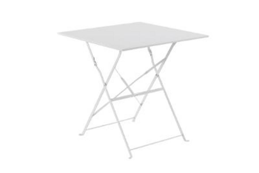 TABLE CAMARGUE CARRE BLANC