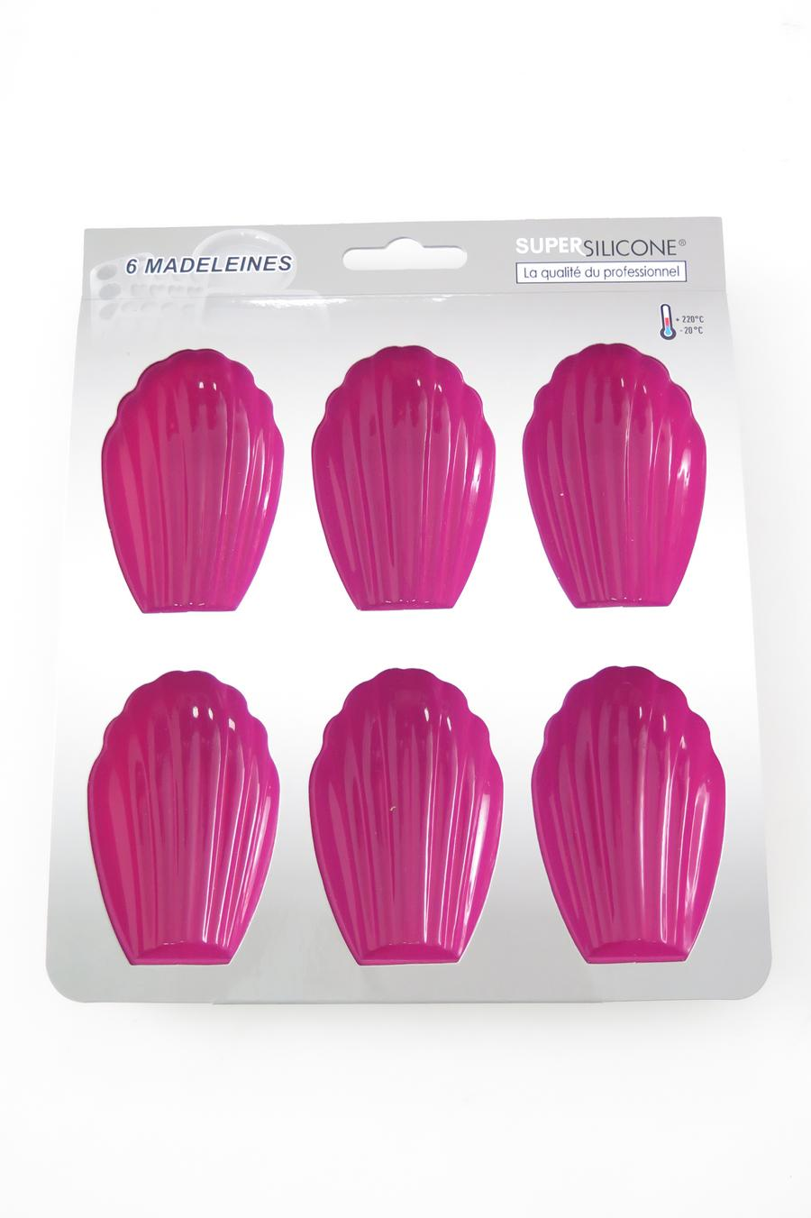 MOULE SILICONE 6 MADELEINES