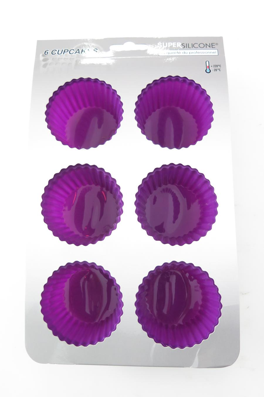 MOULE SILICONE 6 CUPCAKES