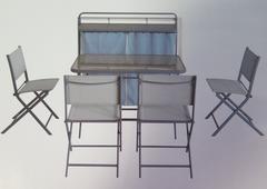 ENSEMBLE JARDIN TABLE+4CHAISES