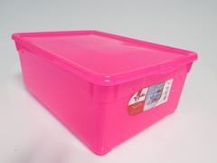 BOITE PLASTIQUE 10L ROSE FLUO