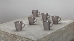 TASSE A CAFE GRES LOOK TAUPE