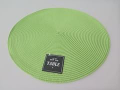 SET DE TABLE ROND VERT