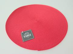 SET DE TABLE ROND ROUGE