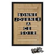 TABLEAU LETTRES COLLECT 30X45
