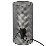 LAMPE TUBE METAL AJOURE NOIR
