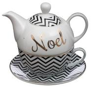 THEIERE + TASSE PORCELAINE