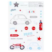 STICKERS KIDS PILOTE 30X40CM